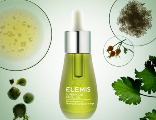 Elemis Superfood Facial Oil – Translucent coloured glass with aluminium dropper