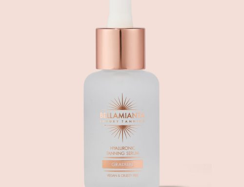 Bellamianta – frosted glass bottle with rose gold foil plus dropper with rose gold aluminium collar and white silicone bulb